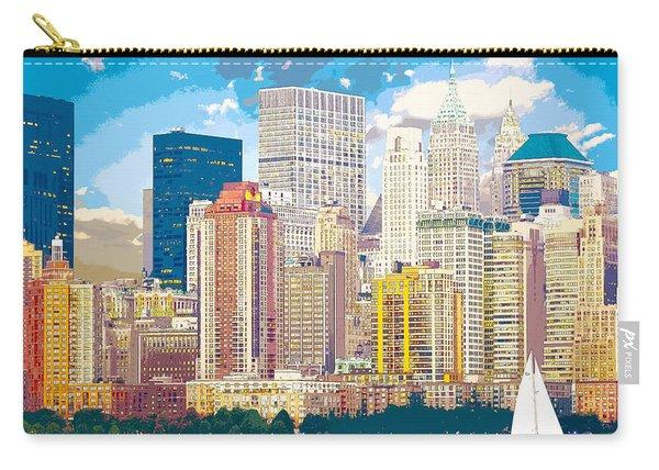Manhattan Skyline New York City Carry-all Pouch