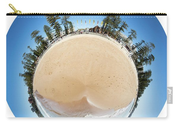 Manly Beach Tiny Planet Carry-all Pouch
