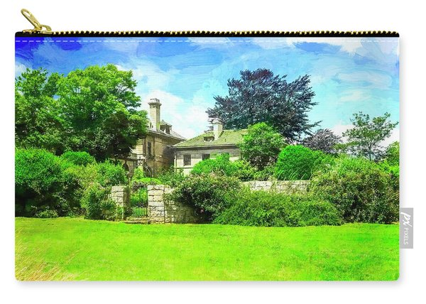 Mansion And Gardens At Harkness Park. Carry-all Pouch