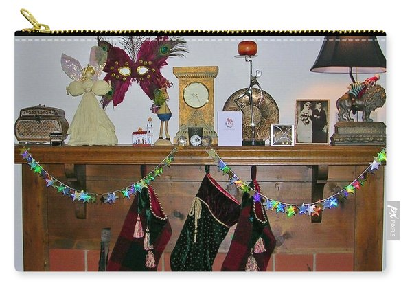 Mantel With Mask Carry-all Pouch