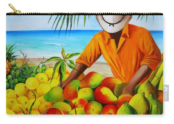 Manuel The Fruit Vendor At The Beach Carry-all Pouch
