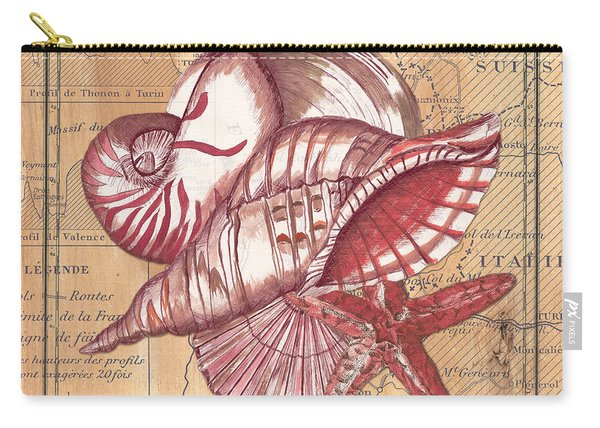 Map And Shells Carry-all Pouch