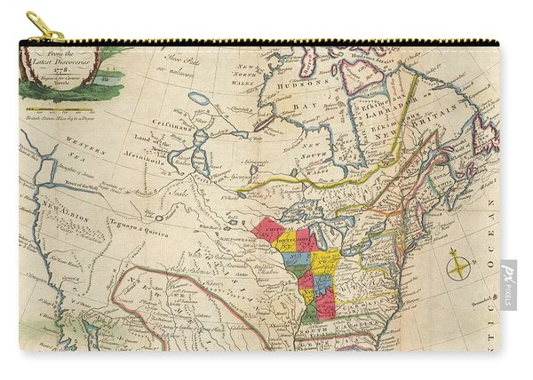 Map Of Colonial North America  Carry-all Pouch
