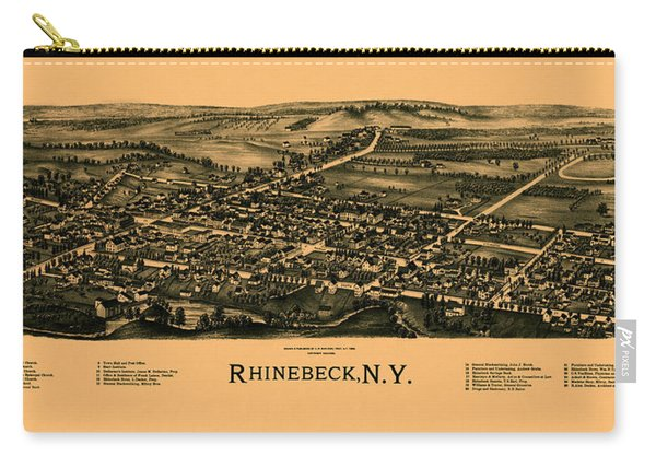Map Of Rhinebeck 1890 Carry-all Pouch