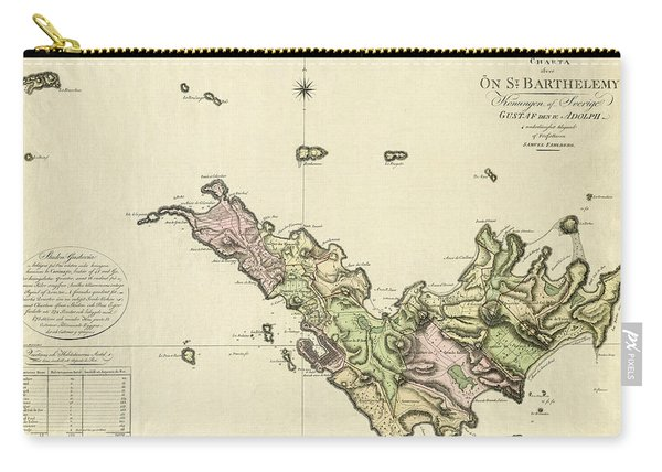 Map Of Saint Barts 1801 Carry-all Pouch