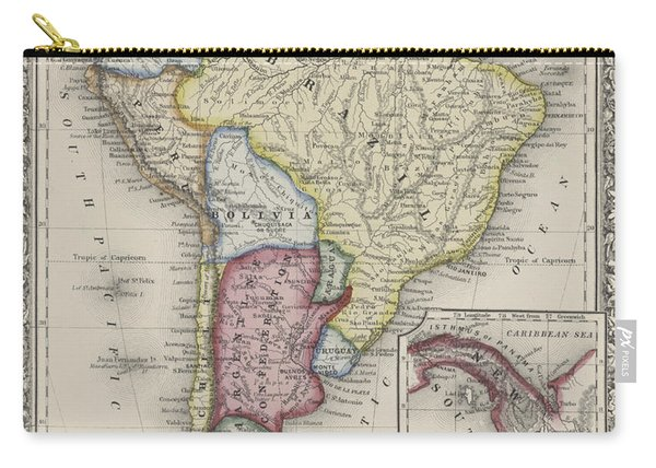 Map Of South America Carry-all Pouch