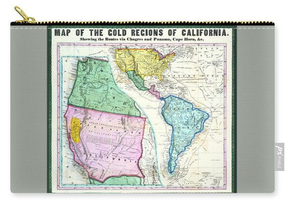Map Of The Gold Regions Of California Carry-all Pouch