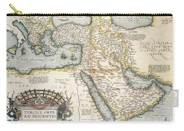 Map Of The Middle East From The Sixteenth Century Carry-all Pouch