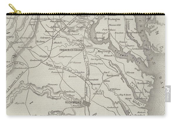 Map Of The Seat Of War In Virginia, 31st August 1861 Carry-all Pouch
