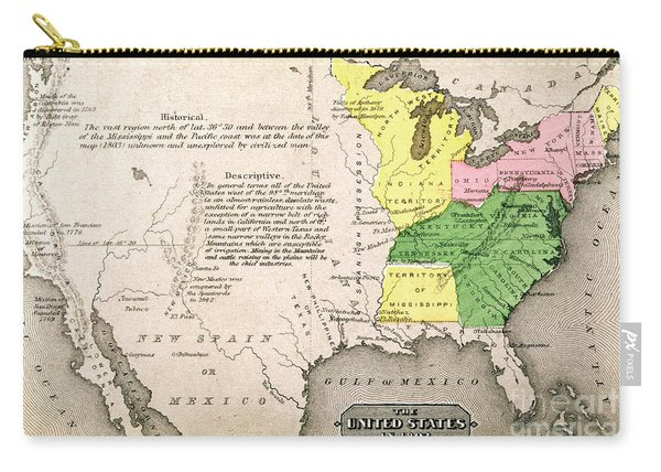 Map Of The United States Carry-all Pouch