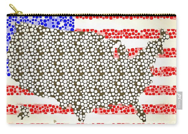 Map Of The United States Of America Pop Art Carry-all Pouch