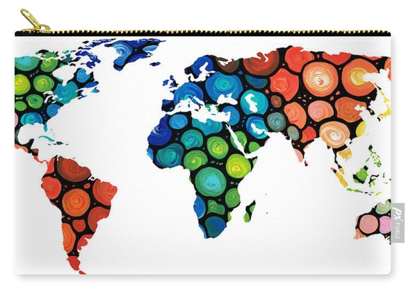 Map Of The World 1 -colorful Abstract Art Carry-all Pouch
