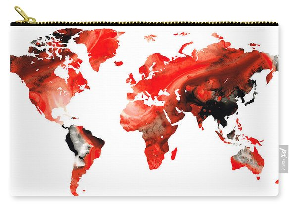Map Of The World 10 -colorful Abstract Art Carry-all Pouch