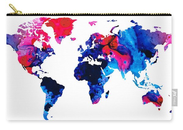 Map Of The World 9 -colorful Abstract Art Carry-all Pouch