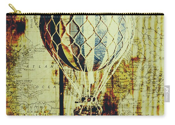 Mapping A Hot Air Balloon Carry-all Pouch