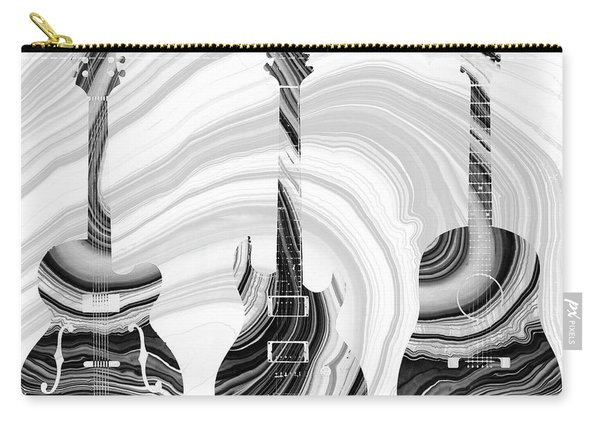 Marbled Music Art - Three Guitars - Sharon Cummings Carry-all Pouch