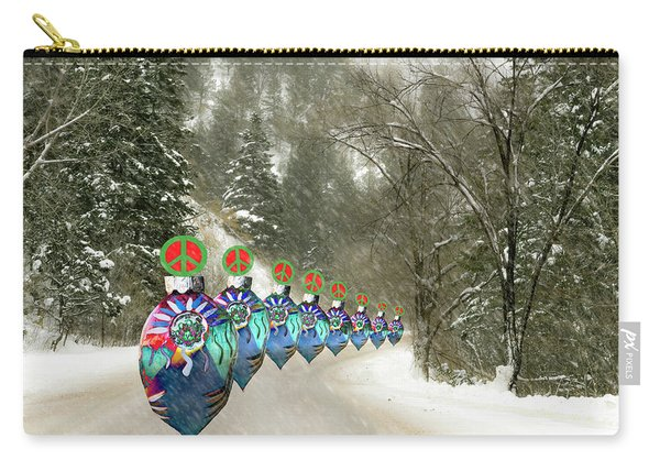 Marching Peace Ornaments Carry-all Pouch