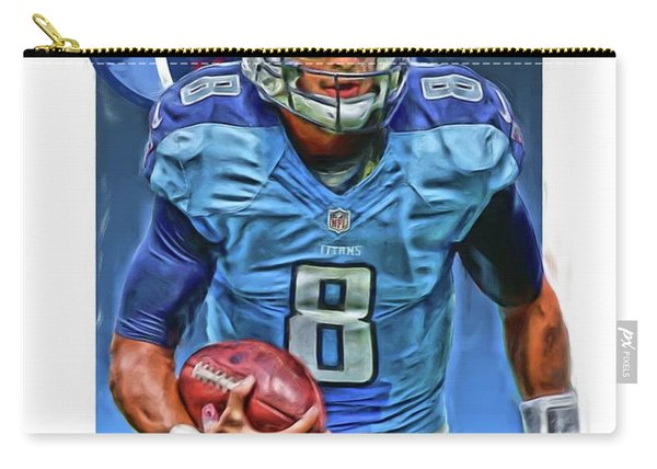 Marcus Mariota Tennessee Titans Oil Art Carry-all Pouch