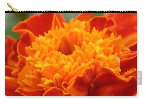 Carry-all Pouch featuring the photograph Marigold Center by William Selander