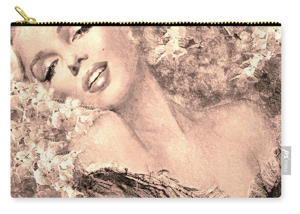 Marilyn Cherry Blossom, B Sepia Carry-all Pouch