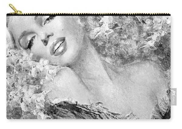 Marilyn Cherry Blossom Bw Carry-all Pouch
