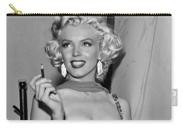 Marilyn Monroe Back Stage Autograph Carry-all Pouch