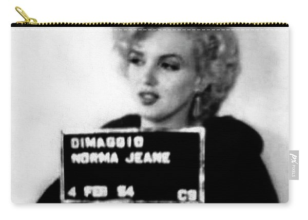 Marilyn Monroe Mugshot In Black And White Carry-all Pouch