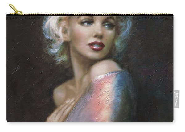 Marilyn Romantic Ww 4 Blue Carry-all Pouch