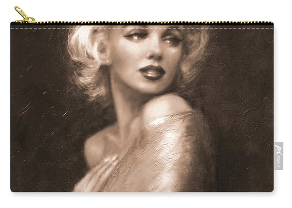 Marilyn Ww Sepia Carry-all Pouch