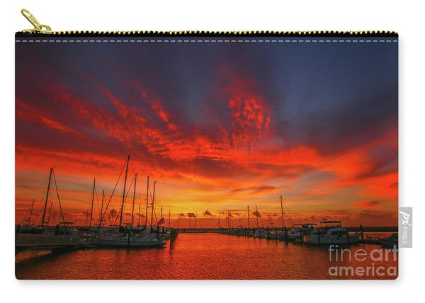 Carry-all Pouch featuring the photograph Marina Sunrise - Ft. Pierce by Tom Claud