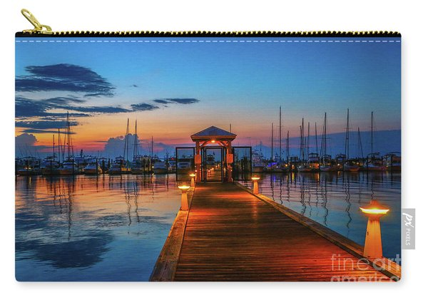 Carry-all Pouch featuring the photograph Marina Sunrise by Tom Claud