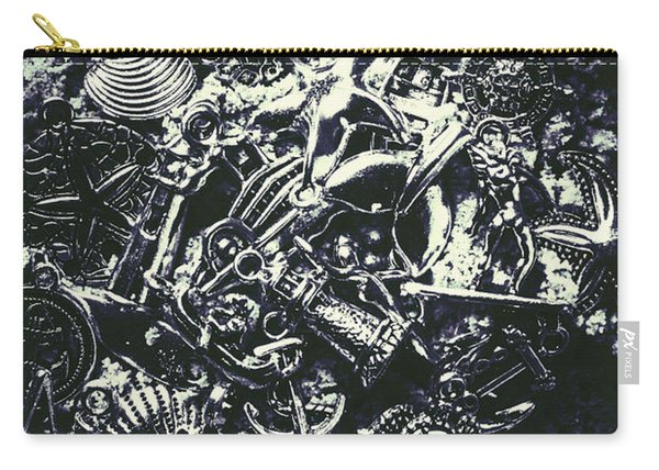 Marine Elemental Abstraction Carry-all Pouch