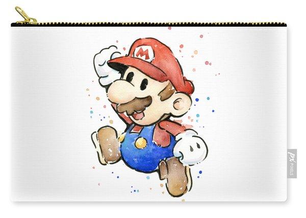 Mario Watercolor Fan Art Carry-all Pouch