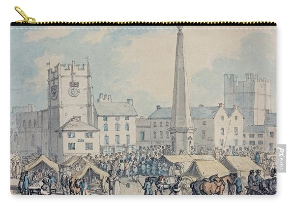 Market Day At Richmond In Yorkshire Carry-all Pouch