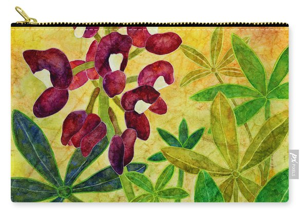 Maroon Bluebonnet Carry-all Pouch