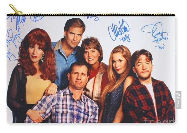 Married With Children Cast Autographs Carry-all Pouch