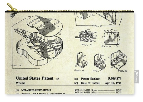 Martin Guitar Patent Art Carry-all Pouch