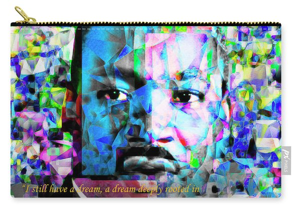 Martin Luther King Jr In Abstract Cubism 20170401 Text Carry-all Pouch