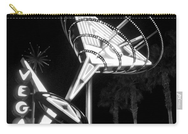 Martini Sign In Vegas B-w Carry-all Pouch