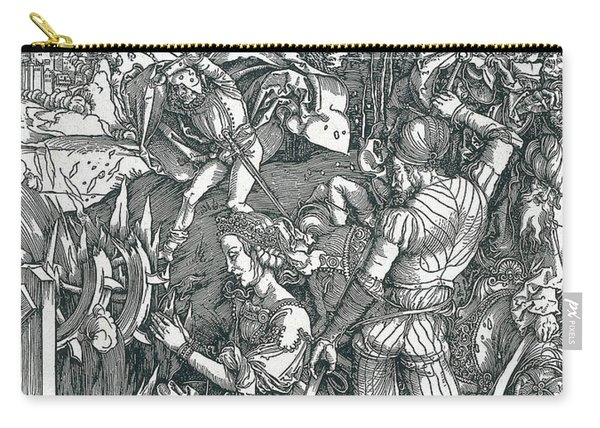 Martyrdom Of Saint Catherine Carry-all Pouch