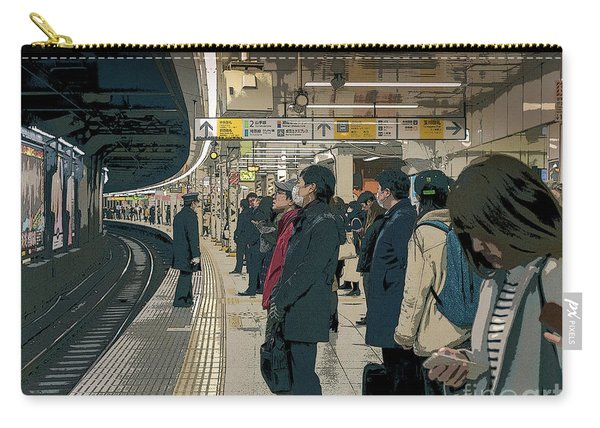 Marunouchi Line, Tokyo Metro Japan Poster 2 Carry-all Pouch