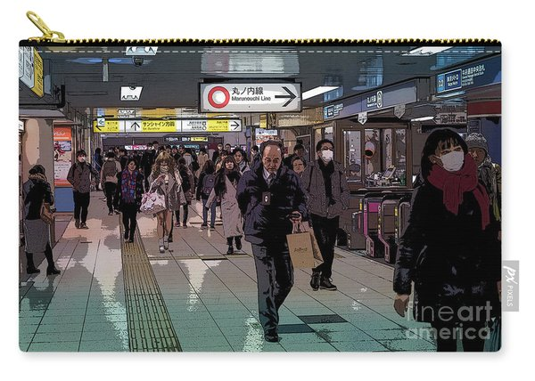 Marunouchi Line, Tokyo Metro Japan Poster Carry-all Pouch