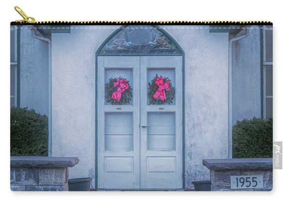 Carry-all Pouch featuring the photograph Marvin Chapel by Tom Singleton