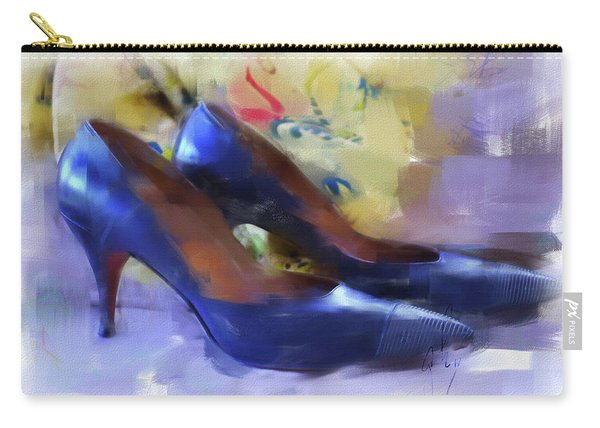 Carry-all Pouch featuring the digital art Mary's Mid-century Moderne Collection No. 1 by Gina Harrison