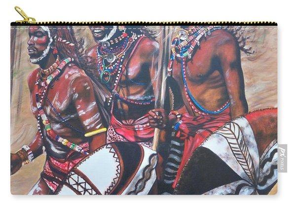Blaa Kattproduksjoner       Masaai Warriors Carry-all Pouch