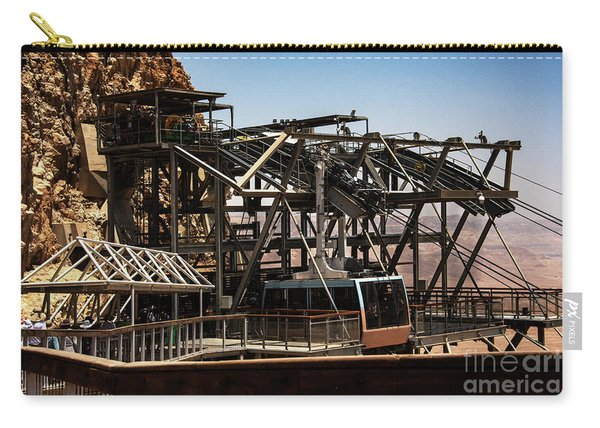 Carry-all Pouch featuring the photograph Masada Lift by Mae Wertz