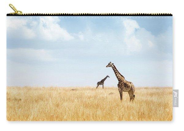 Masai Giraffe In Kenya Plains Carry-all Pouch