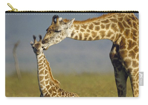 Masai Giraffe Mother And Young Kenya Carry-all Pouch