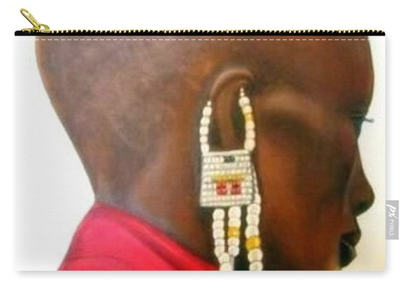 Masai Woman - Original Artwork Carry-all Pouch