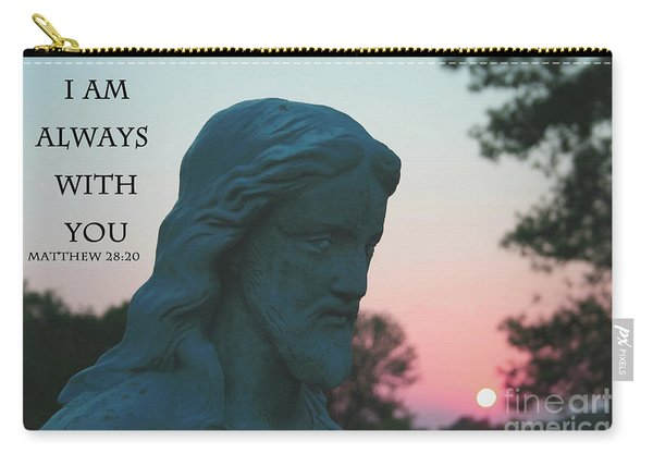 Matthew 28/20 - Jesus Statue Carry-all Pouch